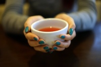 Holding a Tea Cup