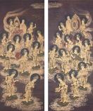 Twenty-Five_Bodhisattvas_Descending_from_Heaven,_c._1300