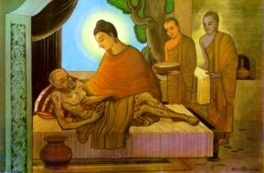 Buddha Tending the Sick